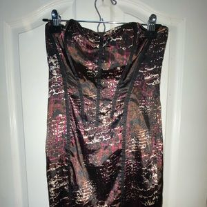 Vintage Foxy Jeans Couture strapless mini NWOT